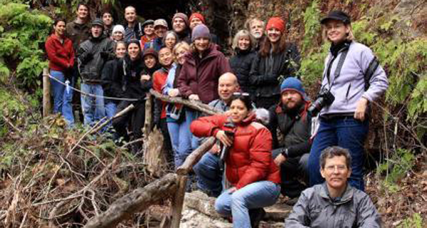 Volunteer group at Westcave Outdoor Discovery Center