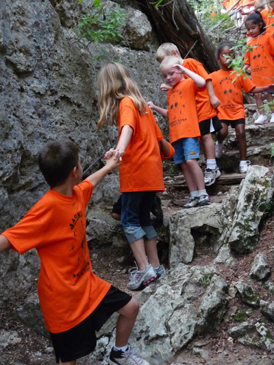 Children School Field Trip at Westcave Outdoor Discovery Center, Austin