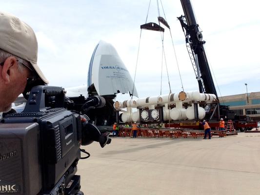 camera operator and crane