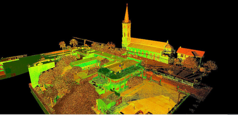 Intensity map point cloud of site