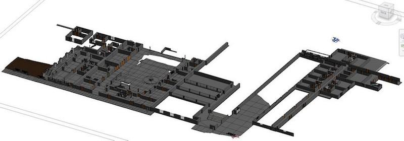As-built model floor plan