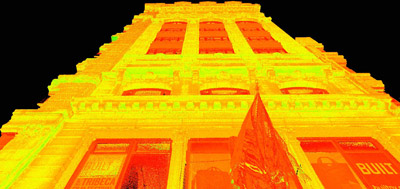 Intensity Map Point Cloud of Facade.JPG