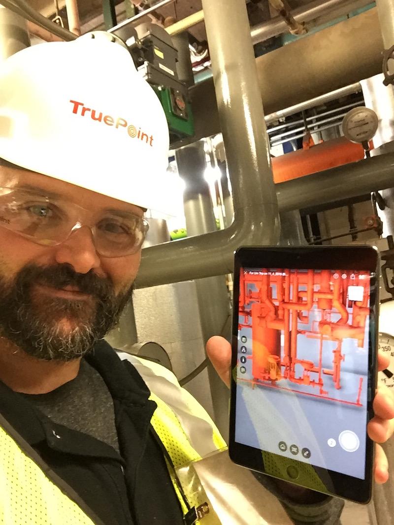 Rick using A360 on Tablet to verify model.JPG