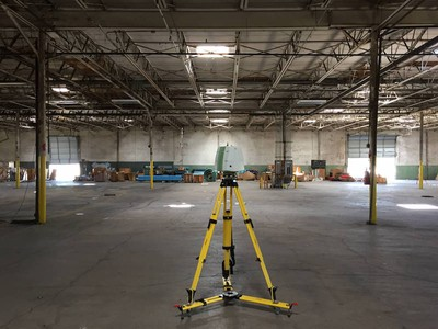 3D Laser Scan Warehouse for Equipment Siting