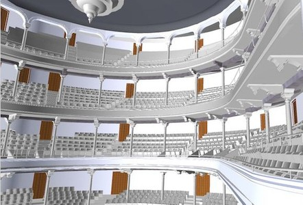 3D Laser Scanning a Theatre to Generate a 3D Model