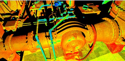 Intensity Map Point Cloud Water Treatment Plant