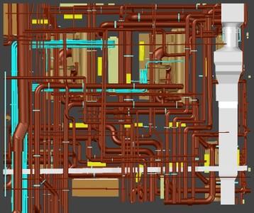 Laser Scanning of a Mechanical Room
