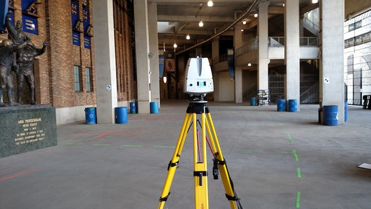 3D Laser Scanning Documents Utility Site Plan At a College Football Stadium