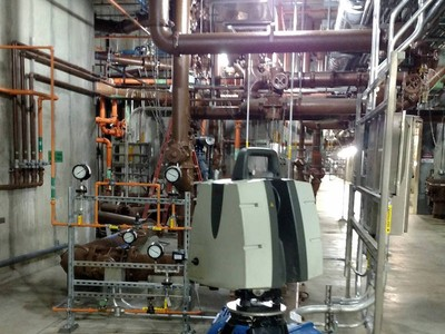 3D Laser Scanning a Wastewater Treatment Plant