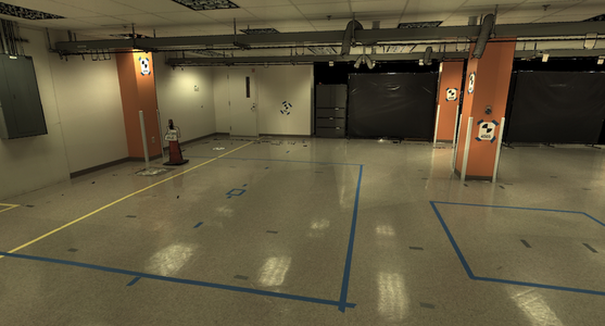 3D Laser Scanning the Concrete Floor in a Pharmaceutical Lab