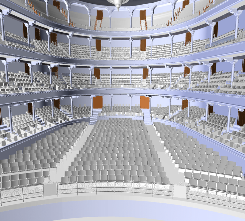 3D Laser Scanning a Theatre for Seating Renovations