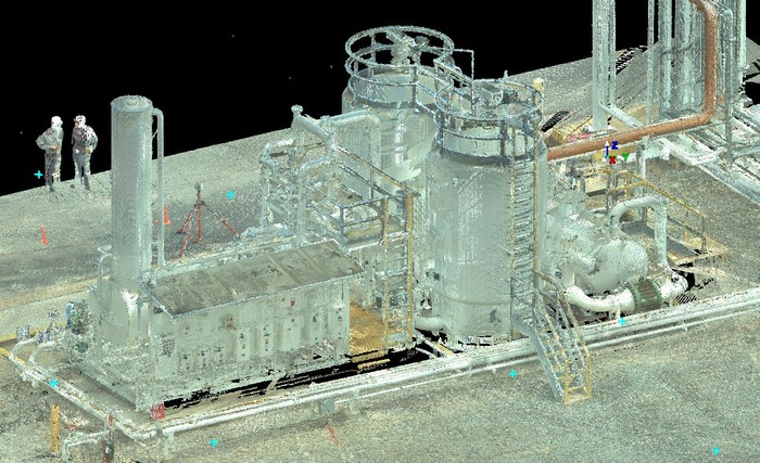Colorized Point Cloud of VRU.JPG