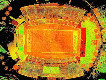 Drone Laser Scanning of College Football Stadium