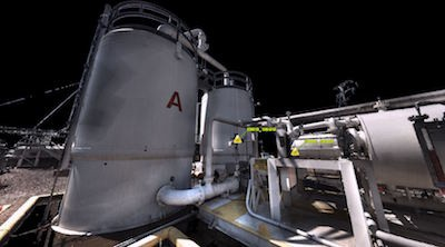 Laser Scanning a Vapor Recovery Unit for Facility Upgrades