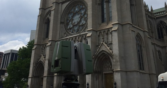 Historic Cathedral Needs 3D Laser Scanning of Front Facade