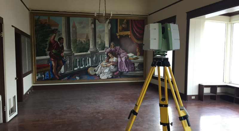 3D laser scanning is non-intrusive, leaving historical properties untouched