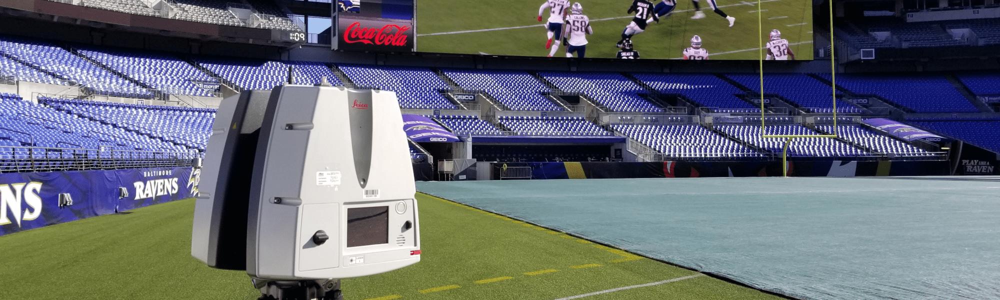 3d laser scanning stadium