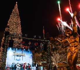 An image of the Americana At Brand Tree Lighting