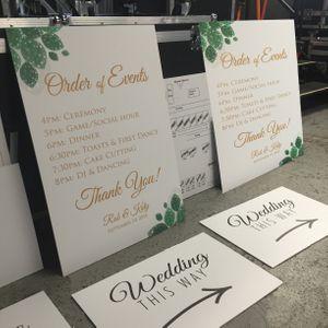 Order of Events Wedding Signage