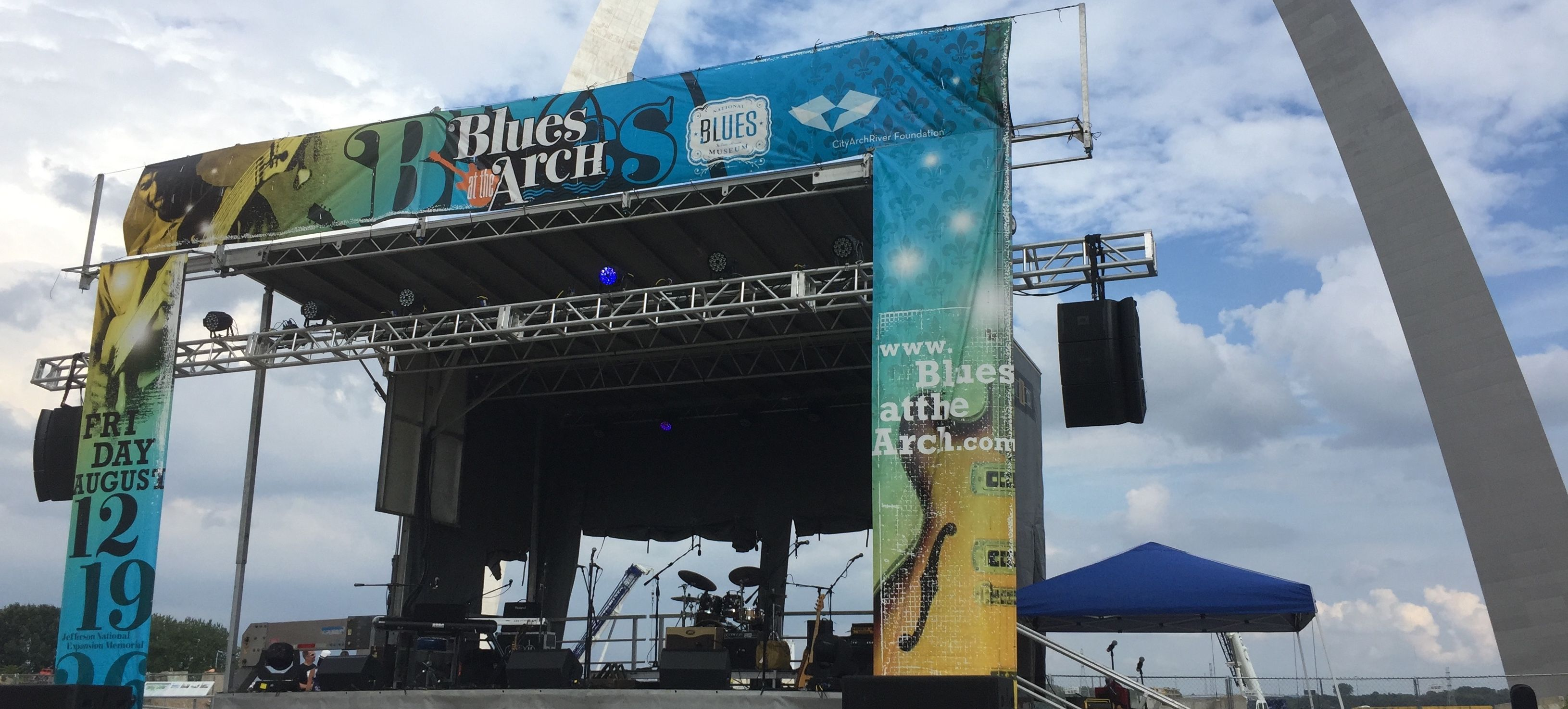 Blues at the Arch Stage in front of the Arch