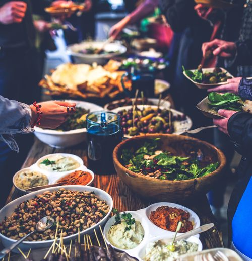 An image of an event buffet