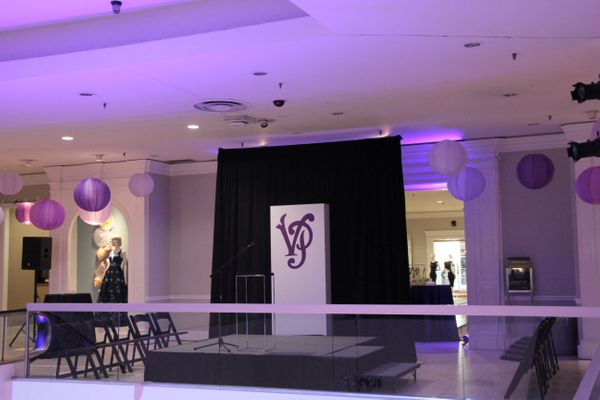 Event with purple uplighting