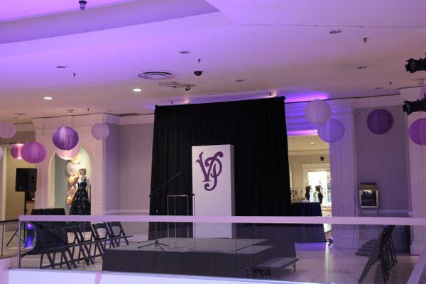 purple event design