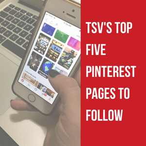 TSV's Top Five Pinterest Pages to Follow Blog Cover