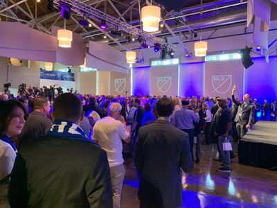 MLS Press Conference Crowd