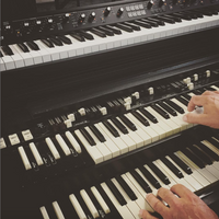 A man playing the keyboard
