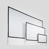 A stock image of 3 sizes of Stumpfl projection screens