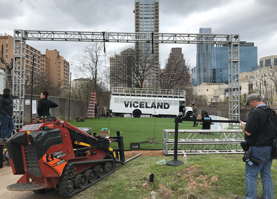viceland entrance before wrapping