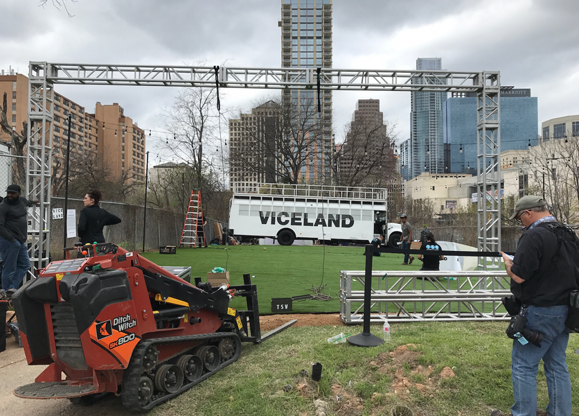 Set up for Viceland at SXSW