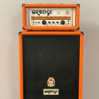 A stack of Orange amplifiers