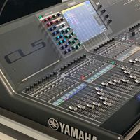 A close-up image of the audio mixer the Yamaha CL5
