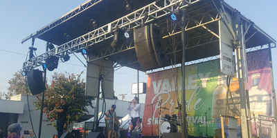 A large stage at Valley Pride in California