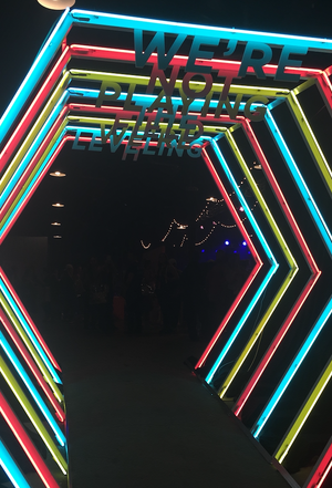 Neon Lights Entrance Tunnel