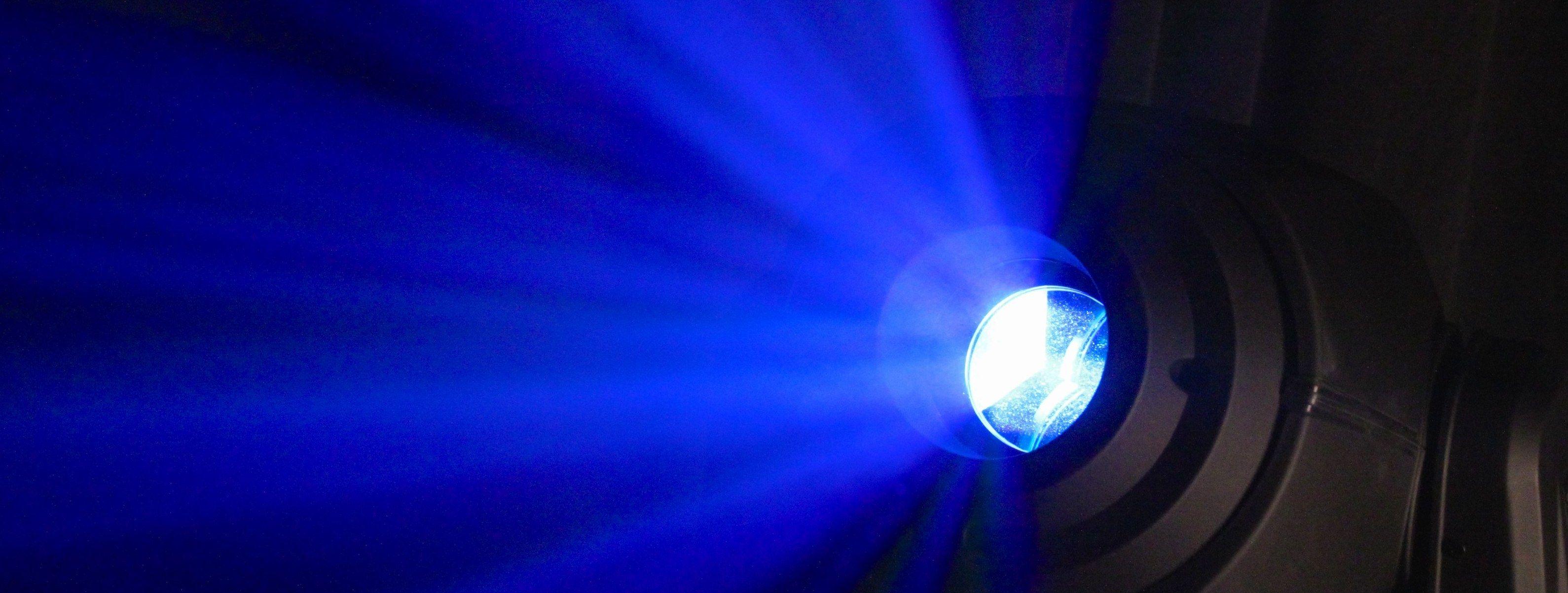 Close up of an LED light