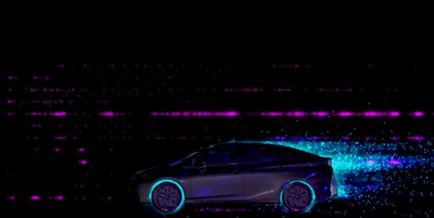 A video mapped display on a Toyota Camry