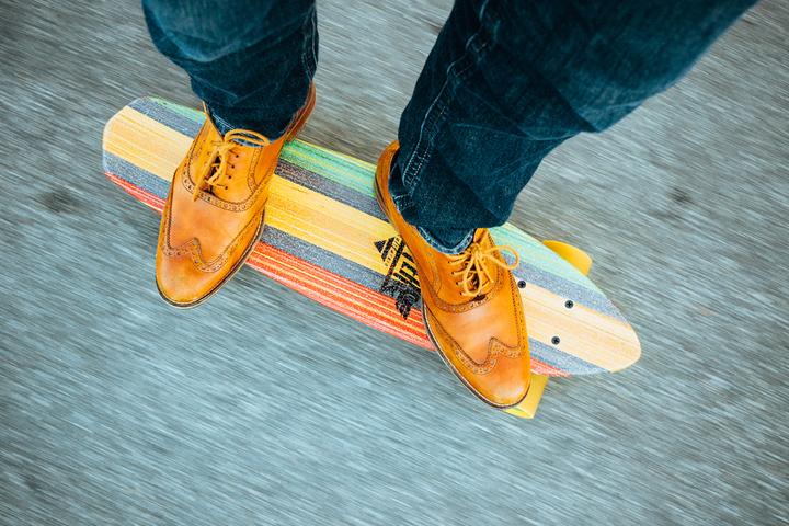 Orange Leather Dress Shoes