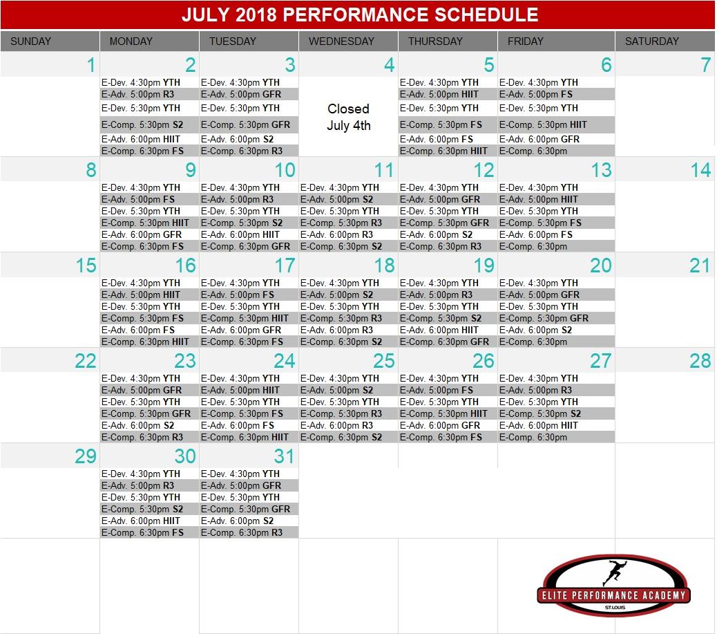 EPA July 2018 Schedule.jpg