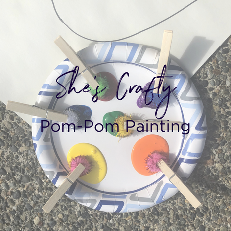 She's Crafty - Pom Pom Painting Easter Craft