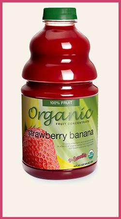 Organic Strawberry Banana Smoothie Puree