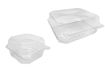 Bulk Wholesale PET Hinged Containers