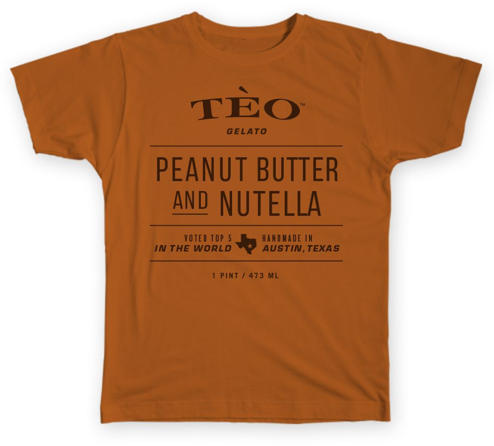 teo peanut butter and nutella  t-shirt