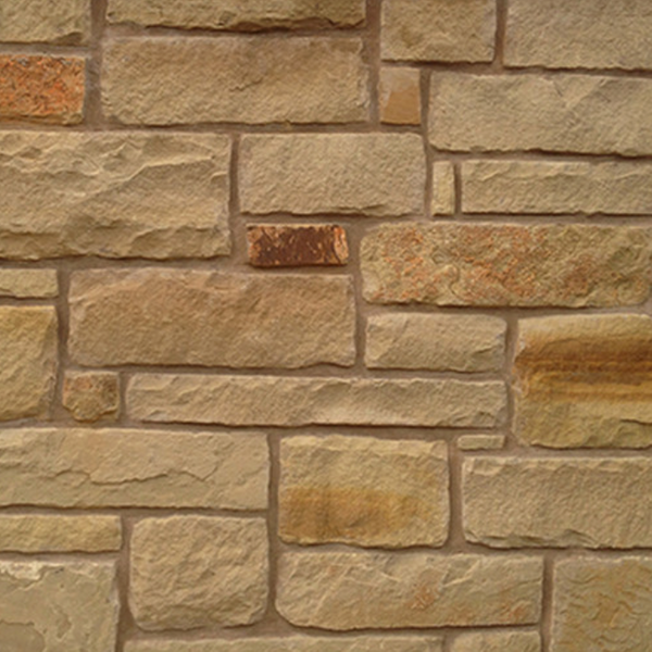 Autumn Blend Chopped Flagstone Wall