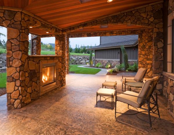 Beautiful patio stone