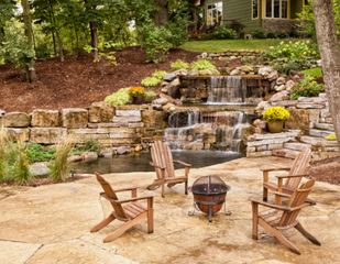 Patio stone & retaining wall
