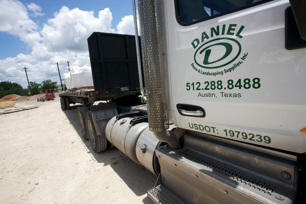 Daniel Stone and Landscaping Supplies delivery truck