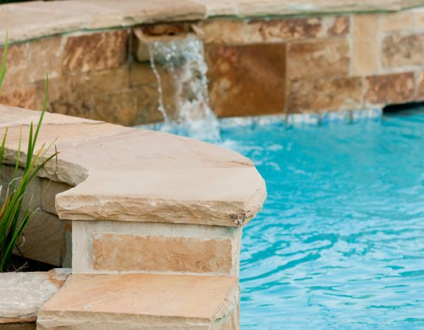 Stone for patio and pool